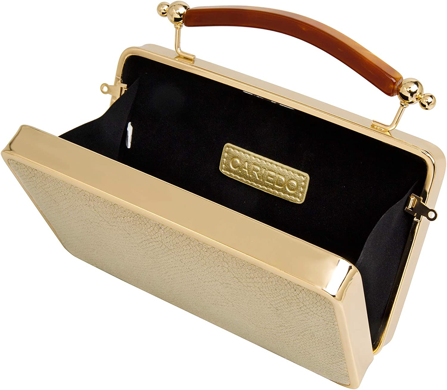 Evening Clutch for Women Velvet Bridal Clutch Gold Evening Purse with Chain
