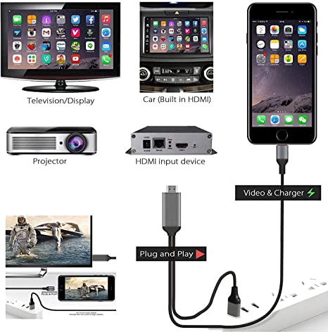 Amavasion Cable HDMI para Phone a 1080P Digital AV HDTV Compatible ...