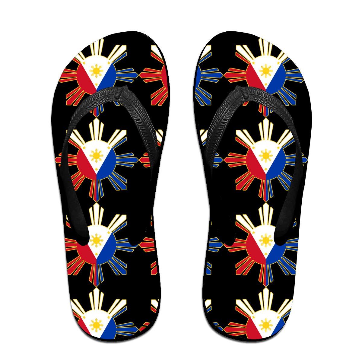 HongyeMao Filipino Flag Flip Flops Summer Slippers Beach Sandals