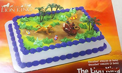 LION KING Party Birthday SIMBA PUMBA CAKE Decoration Cupcake Jungle Zoo