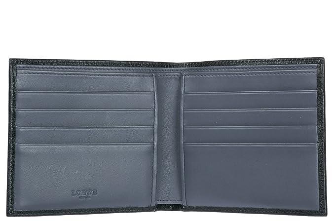 Loewe cartera billetera bifold de hombre en piel nuevo negro: Amazon.es: Zapatos y complementos