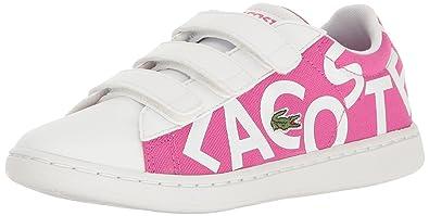 a7595d58288b9 Lacoste Girls  Carnaby EVO 117 1 SPC Sneaker Pink White 2.5 M US Little