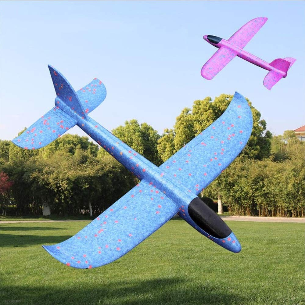 Kikioo 48CM Manual Throwing Foam Plane, Dream Airoplane Gliders, Inertia Flying Aircraft, Manual Circling Functions Flying Gifts For Kids, 3 Year Old Boy,Outdoor Sport Game Toys, Birthday Party Red by Kikioo (Image #4)