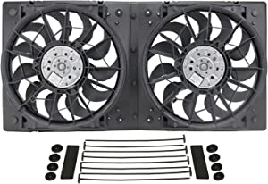 Derale 16928 High Output Dual Radiator Fan,Black