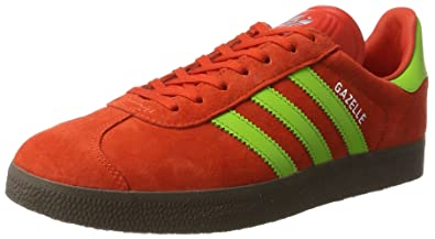 adidas Gazelle, Baskets Homme, Rouge (Core Red/Semi Solar Green/Gum