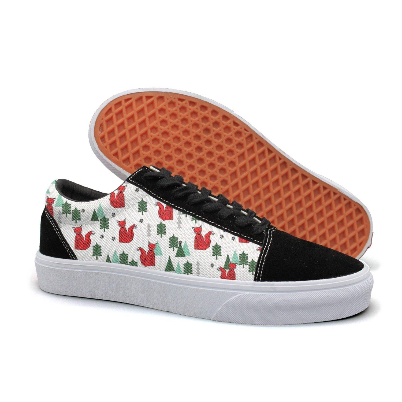 KKLDFD Cute Christmas Fox Life Live Stream Tree 2018 Men Customize Shoes