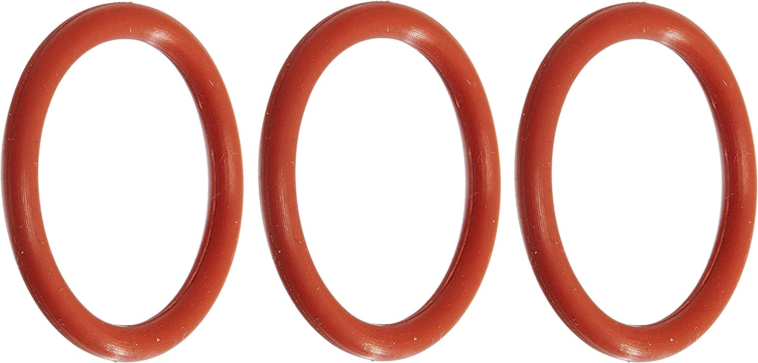 Silicone 027 O-Ring Pack of 100 70A Durometer 1-5//16 ID 1//16 Width Red 1-7//16 OD