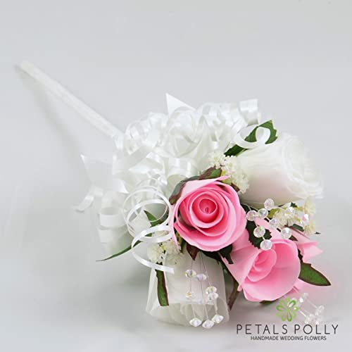Artificial wedding flowers hand made by petals polly flower girl artificial wedding flowers hand made by petals polly flower girl wand baby pink mightylinksfo