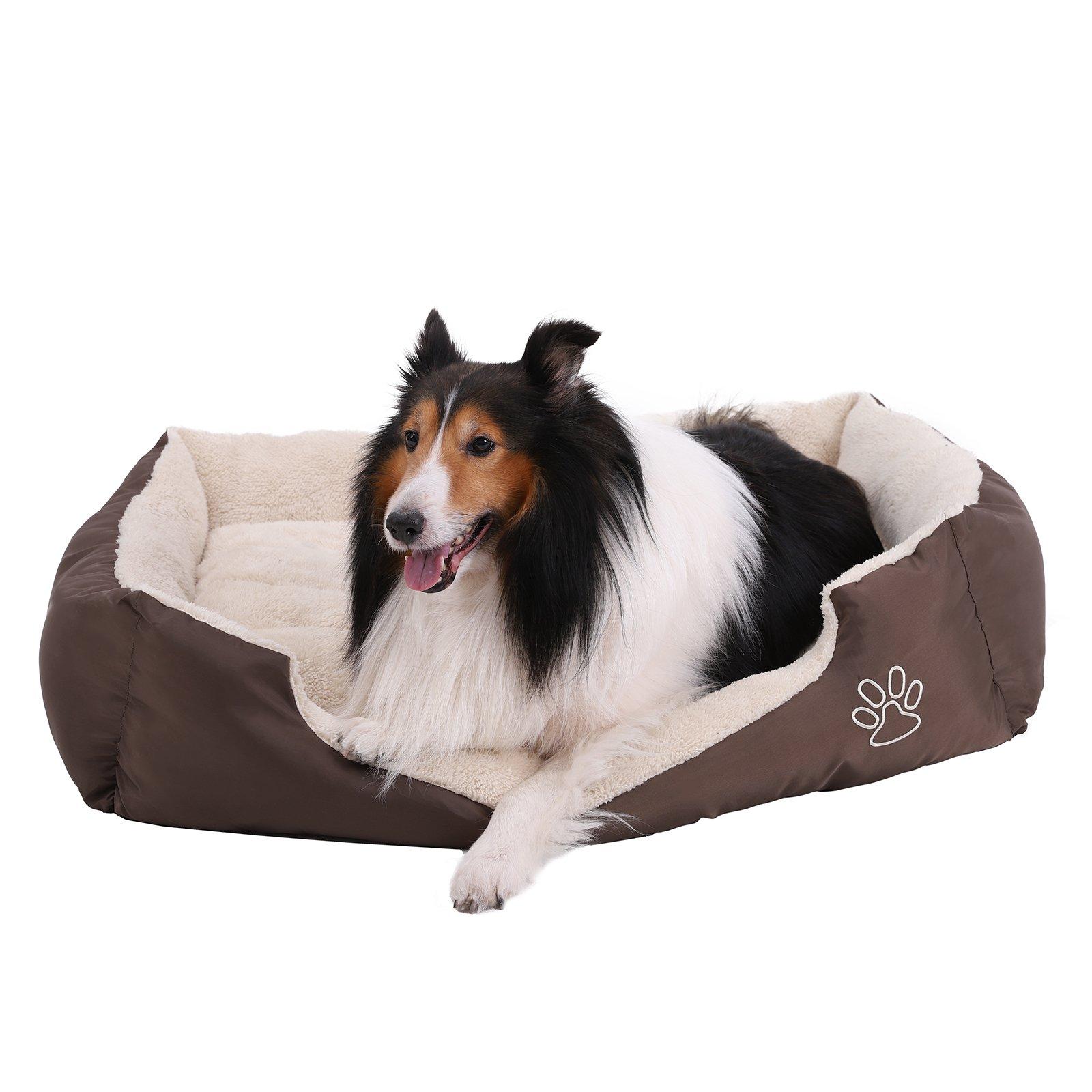 FEANDREA Cama para Perro, Sofá para Perro, con Cojín Reversible, Alfombrilla para Perro