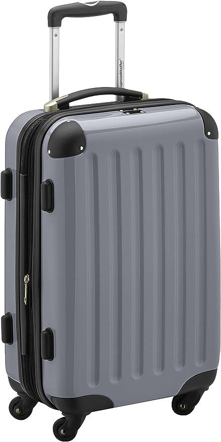 HAUPTSTADTKOFFER Bagage a Main 55 cm Argent ABS 4 roulettes Double Coque Rigide Legere TSA Set de 2 valises de Cabine Boxi