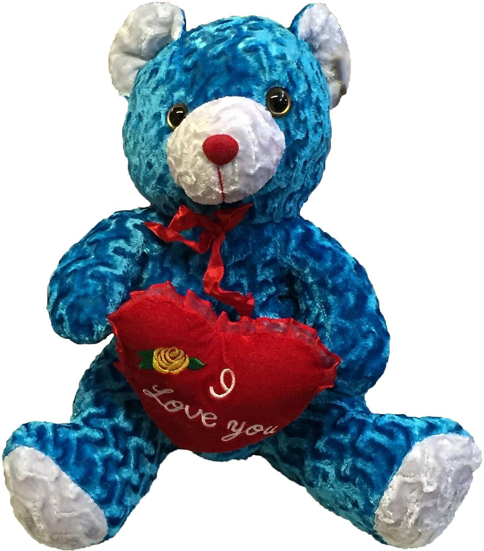 Amazon.com: Big osito de peluche azul Holds Corazón almohada ...