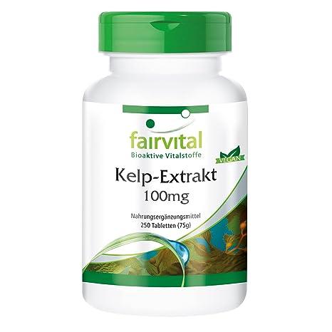 Kelp Extracto de 100 mg con yodo 150mcg - GRANEL durante 8 meses - VEGANO -