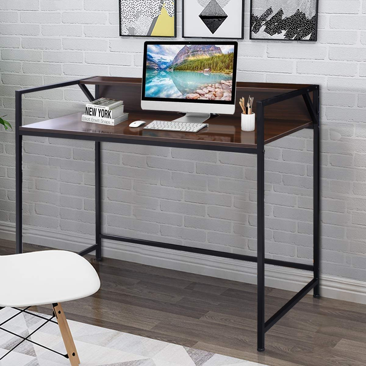KING77777 Modern Simple and Unique Compact Design Simplistic Style Desk Computer Office Premium Quality Material Furniture by KING77777 (Image #3)