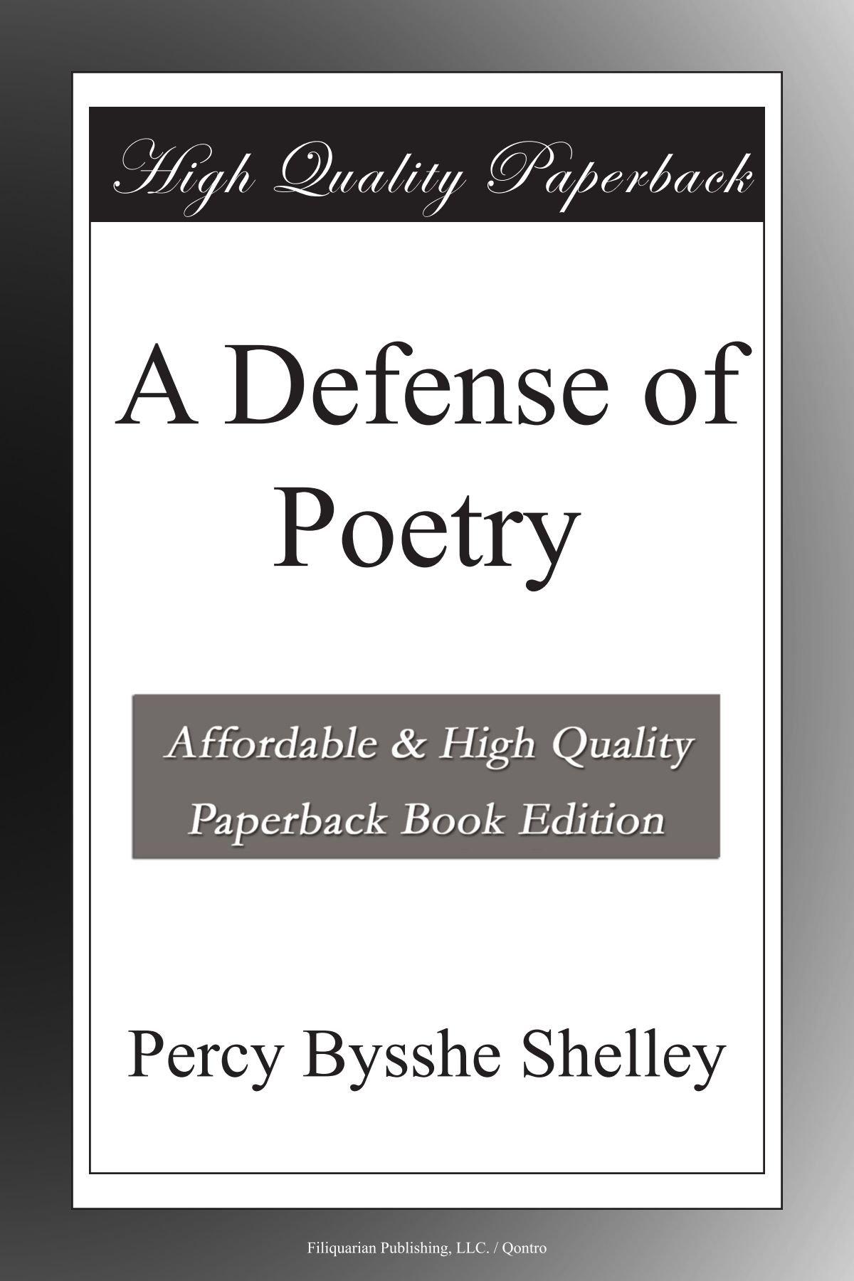 Read Online A Defense of Poetry ebook