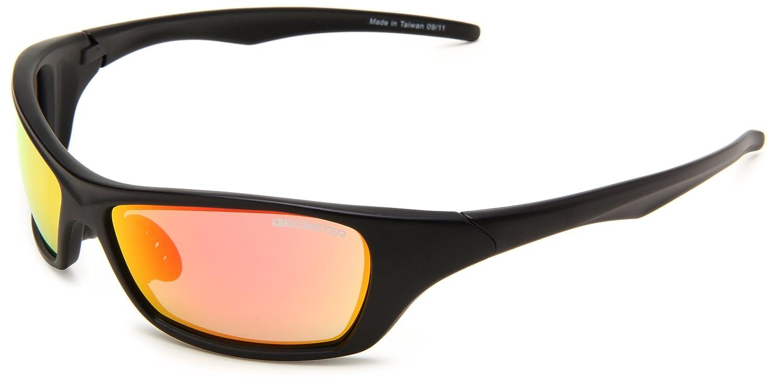 Bobster Bolt Square Sunglasses Black Frame/Blue Lens