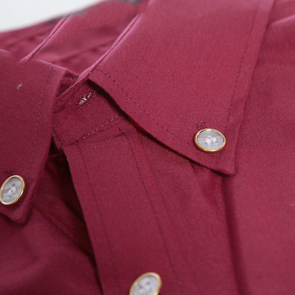 Xmiral Camicetta da Uomo Manica Corta Abito Camicie da Ballo Festa Nuziale abbottonatura o Collo Pullover Top t-Shirt