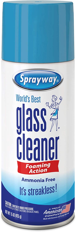 Sprayway SW053R Ammonia-FreeGlass Cleaner,Foaming Action -Streakless Shine,15 Oz