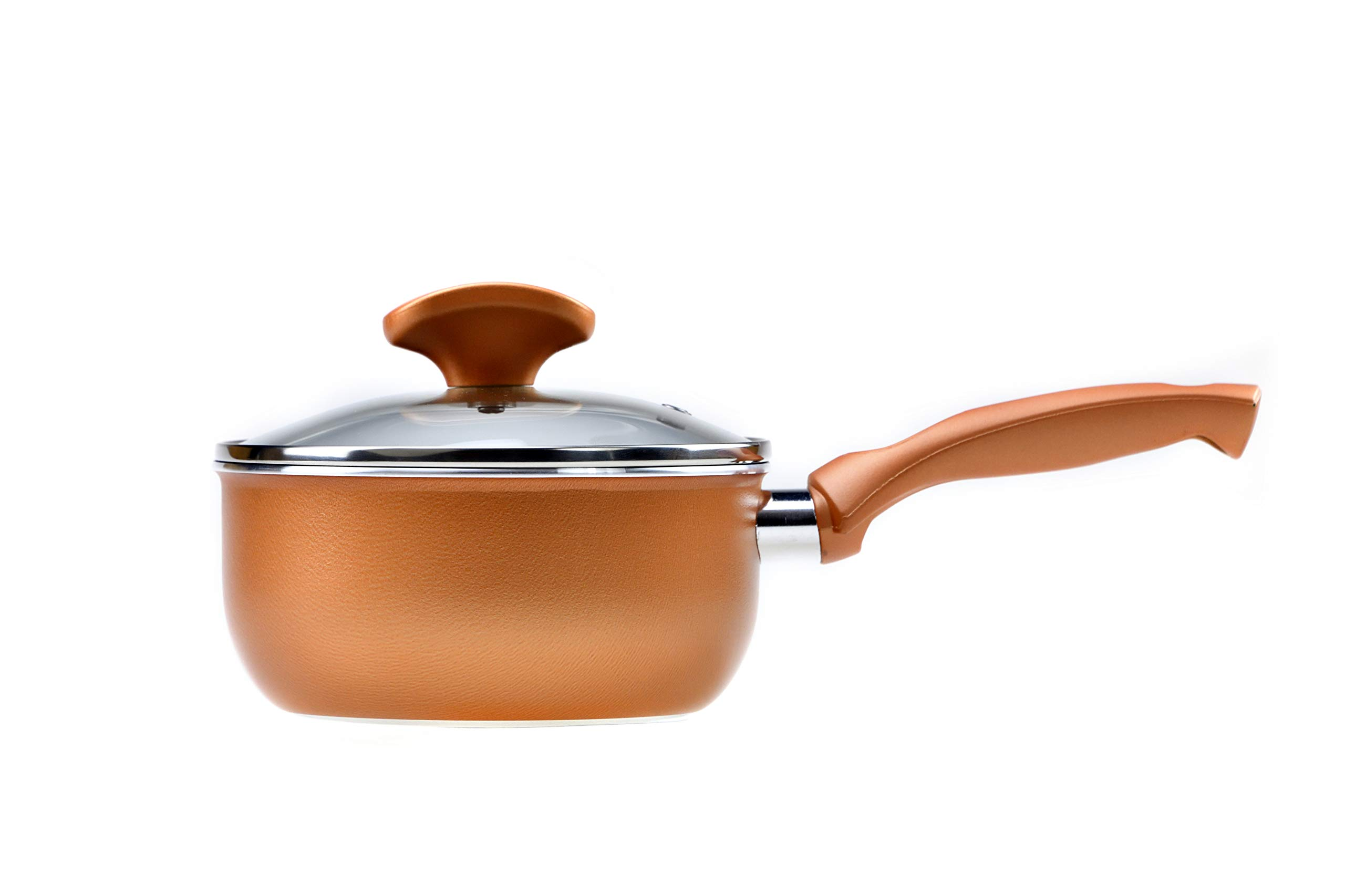 RAVELLI Italia Linea 20 Non Stick Saucepan with a lid, 1 Quart