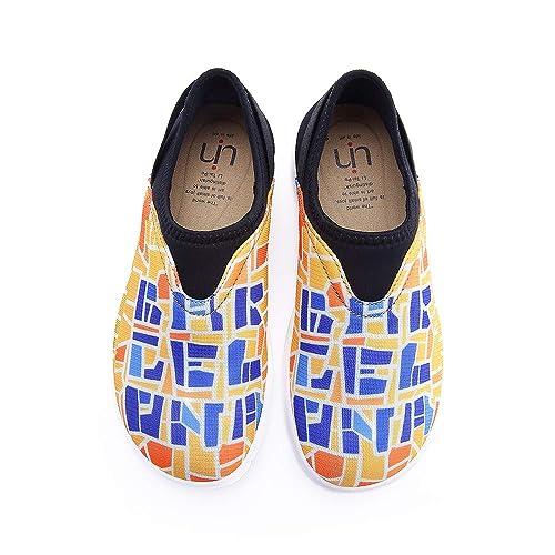 Amazon.com: uin Zapatos de Barcelona Código Colorful Malla ...