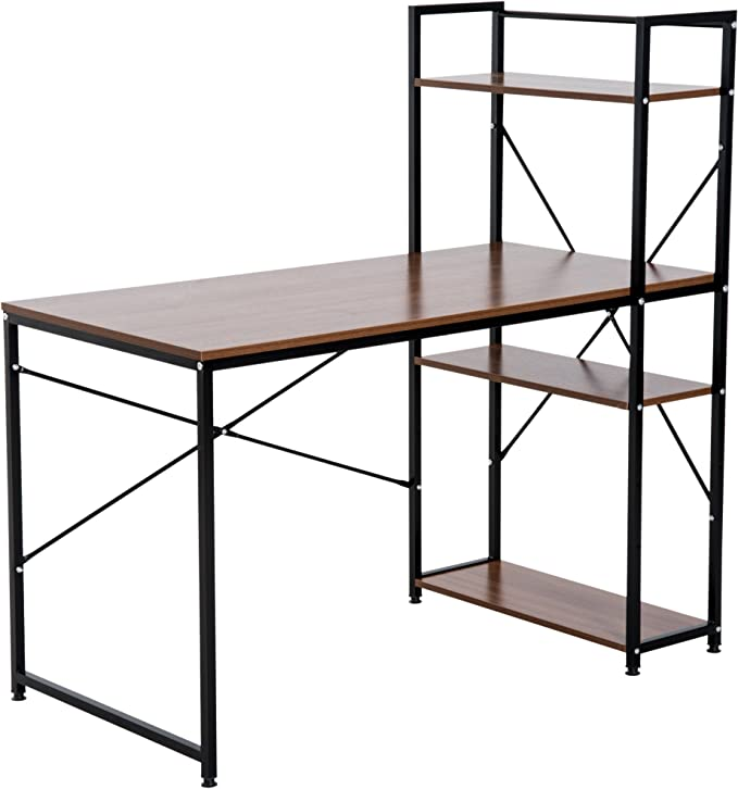 Homcom Computer Desk Pc Table Study Workstation Home Amazon Co Uk Electronics