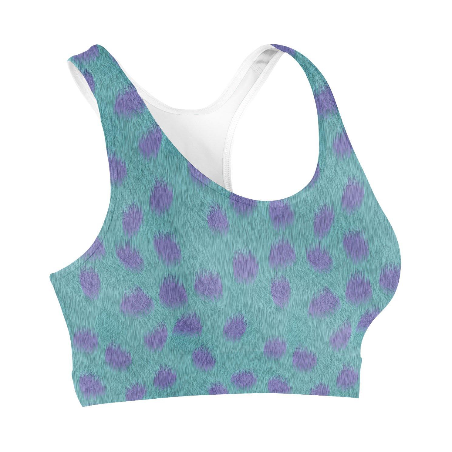 Lkegc Womens Seamless Pattern sea Icons Fashion Printed Sports Yoga Seamless Yoga Running Bra