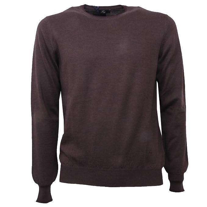 economico per lo sconto a8b6c 31b42 B3720 maglione uomo FAY maglia marrone LANA sweater man [46 ...
