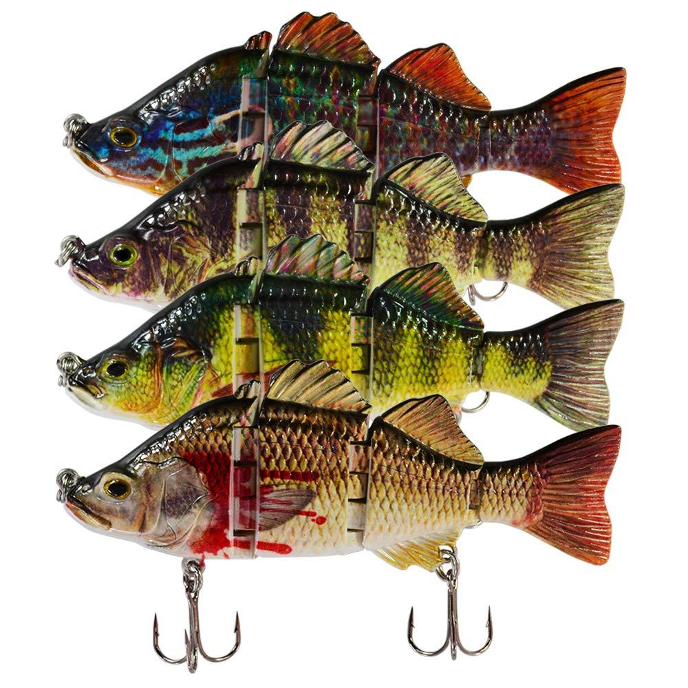 ROSE KULI Fishing Lures Multi Jointed Swimbait Lifelike Fish Lure Tackle Kits by ROSE KULI