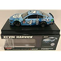 $250 » 2019 Kevin Harvick Busch Light Beer NASCAR Signed Auto 1/24 Diecast Car COA - Autographed Diecast Cars