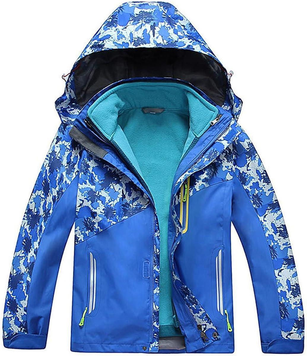 M2C Boys Girls Hooded Fleece Lined Waterproof Windbreaker Active Jacket