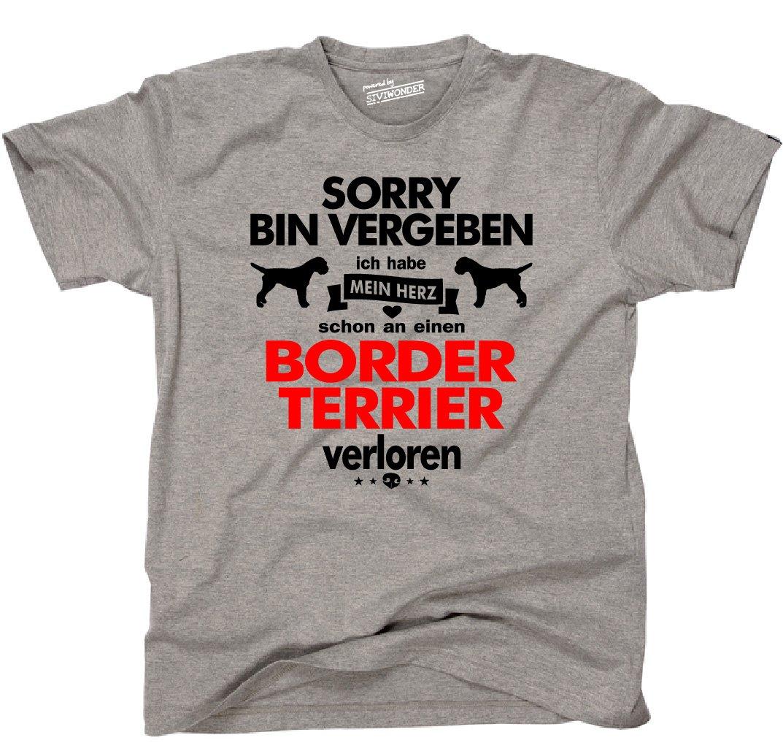 Siviwonder Unisex T-Shirt BORDER TERRIER Herz verloren Hund Hunde fun:  Amazon.de: Bekleidung