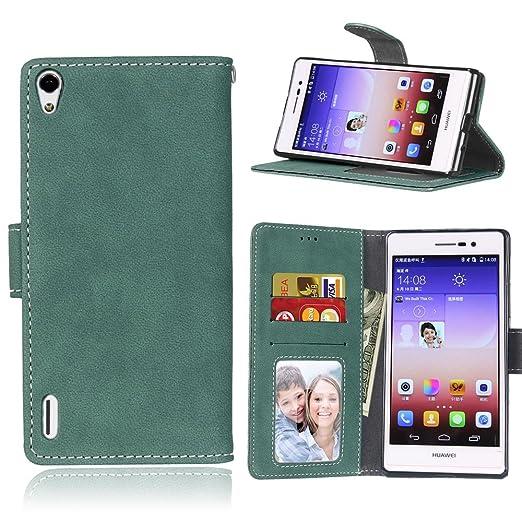 4 opinioni per Cozy hut Per Huawei Ascend P7 (5 Zoll) Verde Custodia ,[Retro] [Matte] Modello