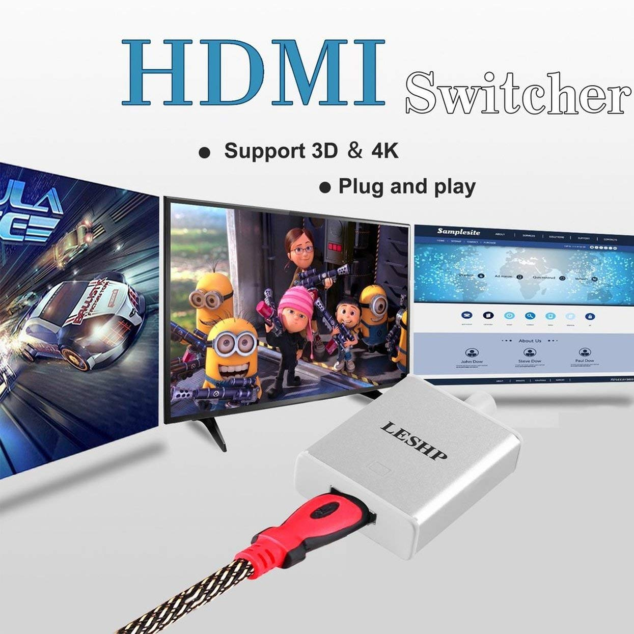Tree-on-Life USB 3.1 Tipo C a USB 3.0,4K HDMI Adaptador multipuerto AV Digital USB-C para Macbook 12 Pulgadas Google Chromebook Pixel HP Pavilion x2