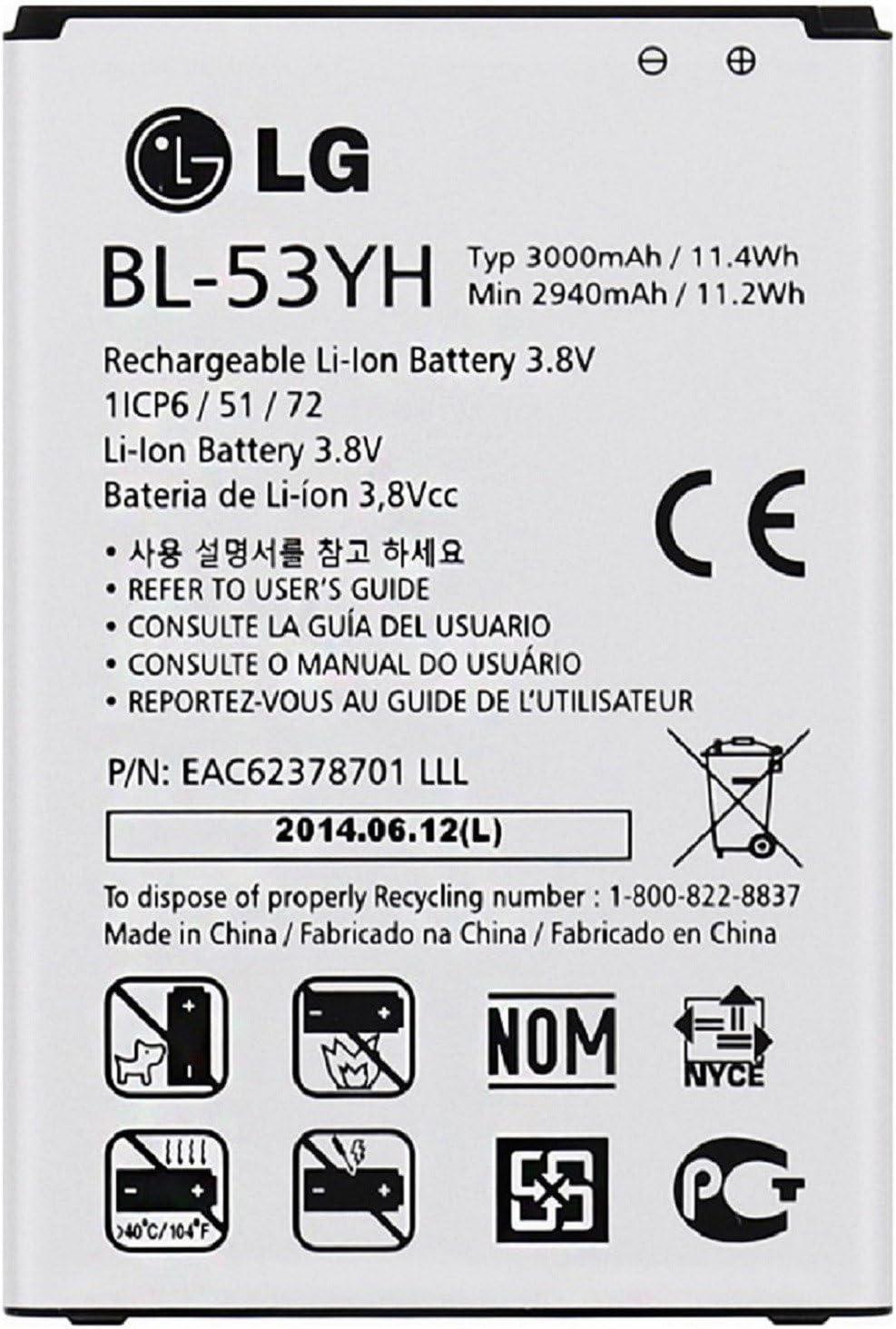 Bateria de recambio modelo bl-53yh para lg optimus g3 3000 mah ...