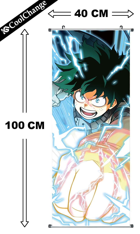 CoolChange My Hero Academia Rollbild / Kakemono aus Stoff, 100x40cm A - Katsuki Bakugo
