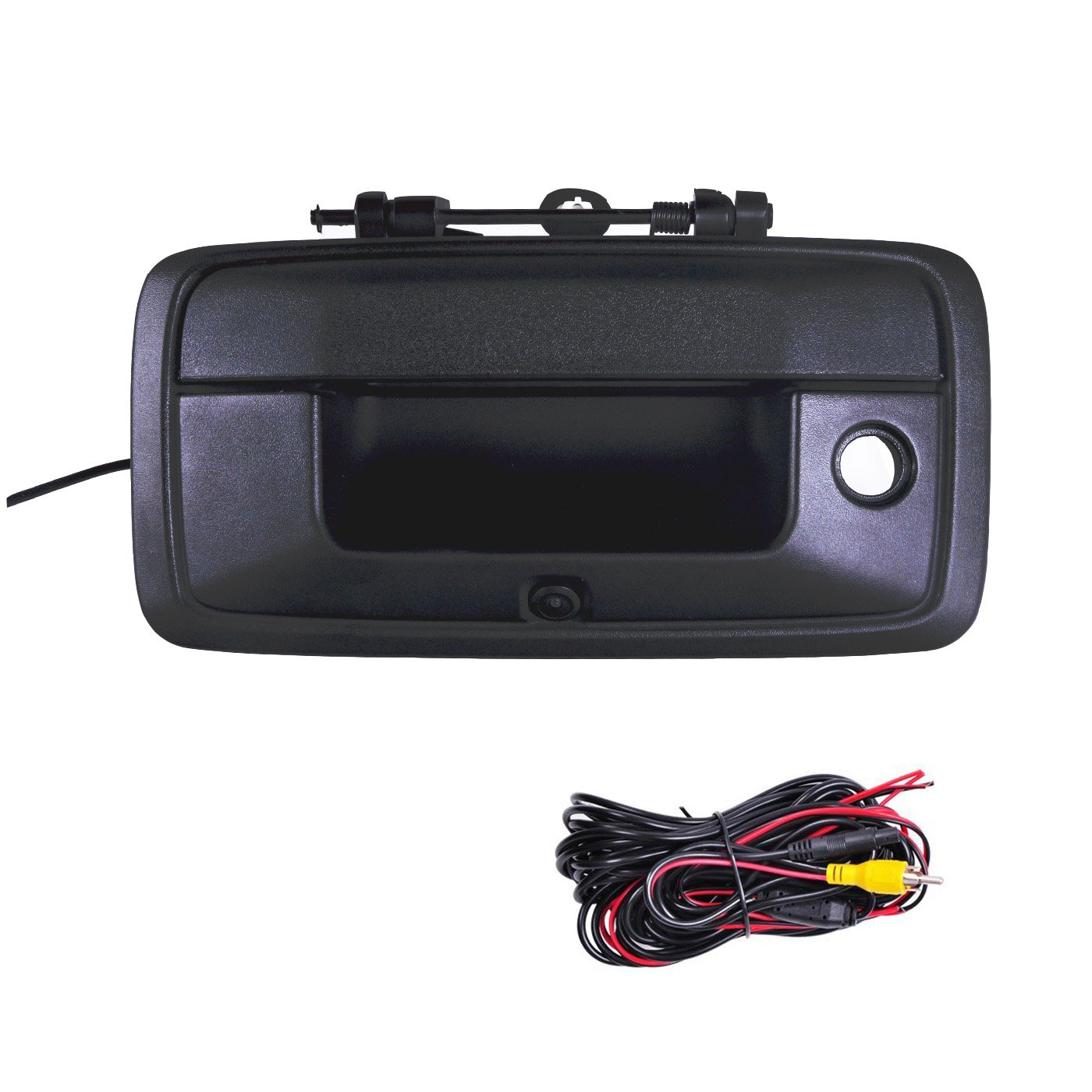 OMOTOR Tailgate Backup Reverse Handle with Camera Fit for Chevrolet Silverado//GMC Sierra 2007 2008 2009 2010 2011 2012 2013 Black