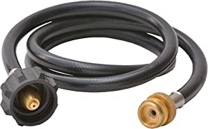 Flame King 4 Feet Propane Adapter Hose 1 lb to 20 lb Converter Replacement for QCC1 / Type1 Tank Connects 1 LB Bulk Portable Appliance to 20 lb Propane Tank