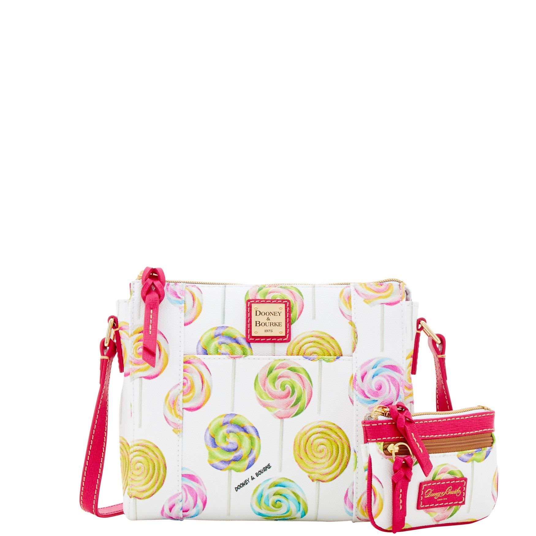 Dooney & Bourke Swirl Lollipop Lexington Crossbody Small Coin Case Shoulder Bag