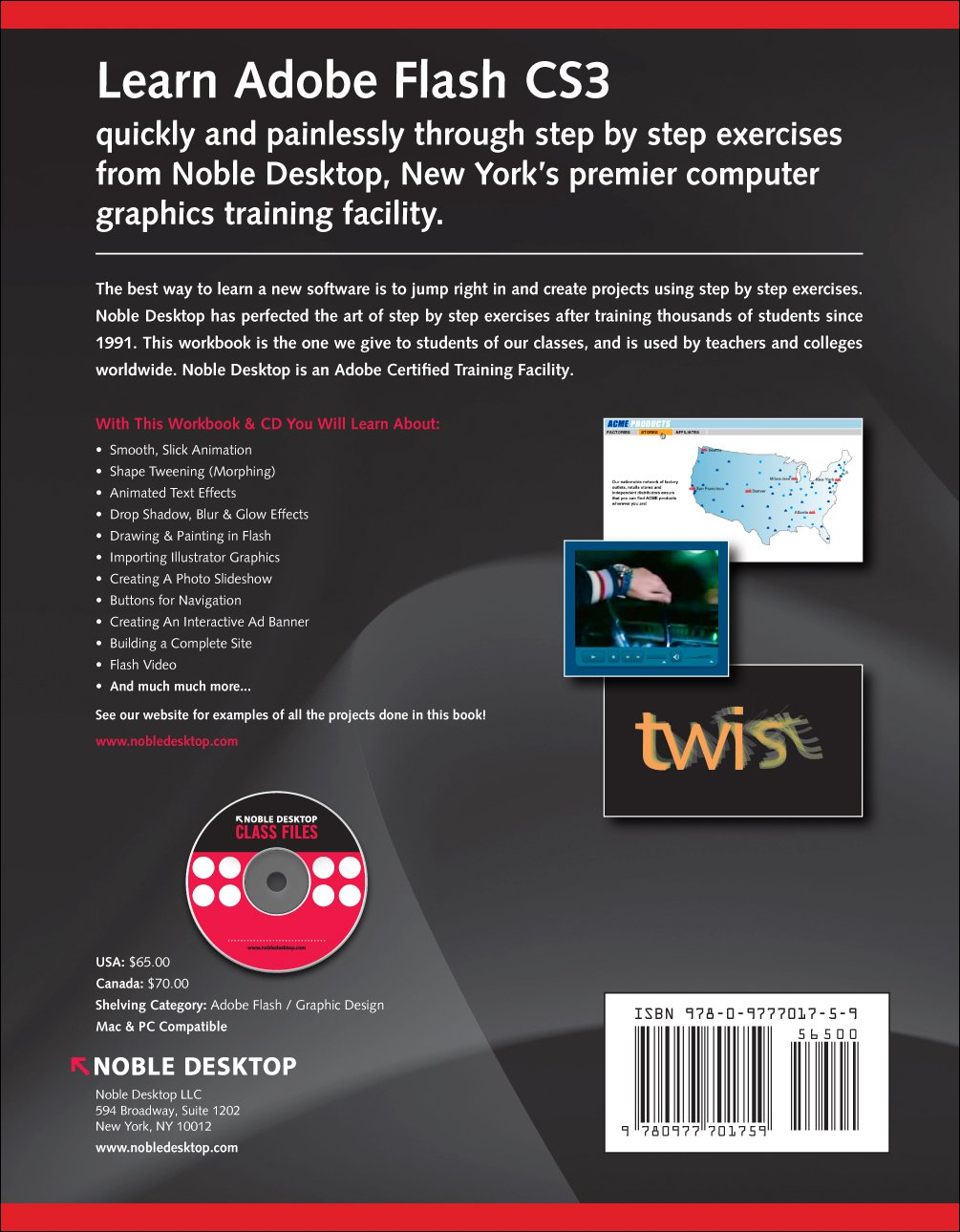 Adobe Flash CS3 Step by Step Training: Noble Desktop: 9781934624210:  Amazon.com: Books