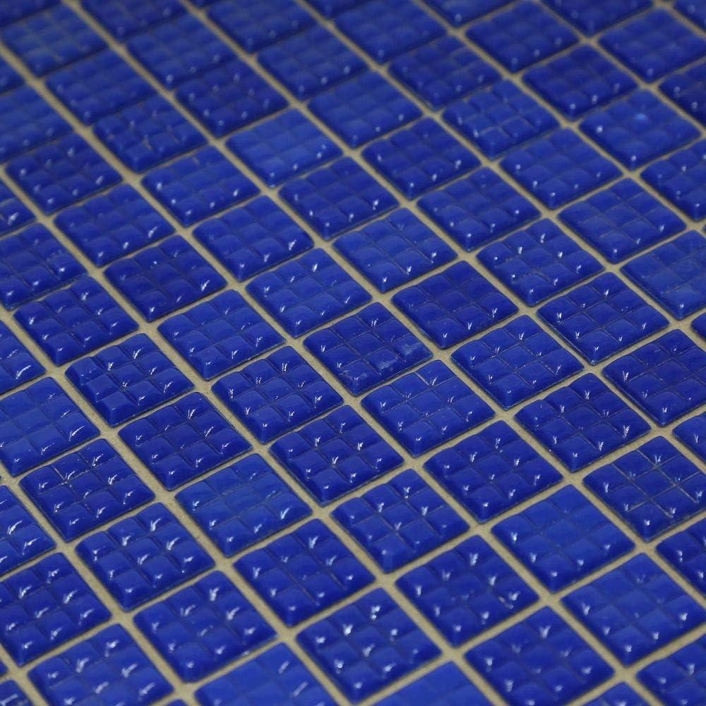 Specialist Crafts Lot de 225 mosa/ïques en verre Bleu clair 20 mm