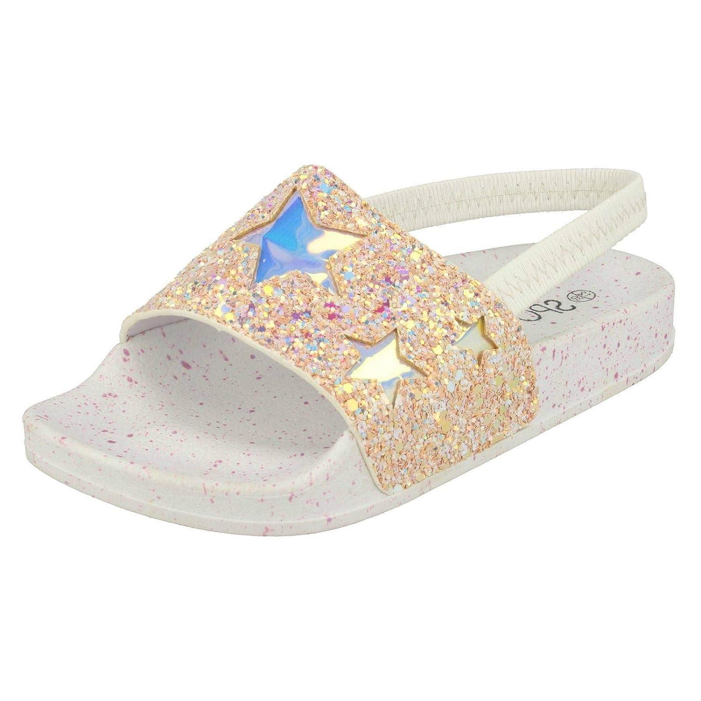 Girls Spot On Glitter Sliders