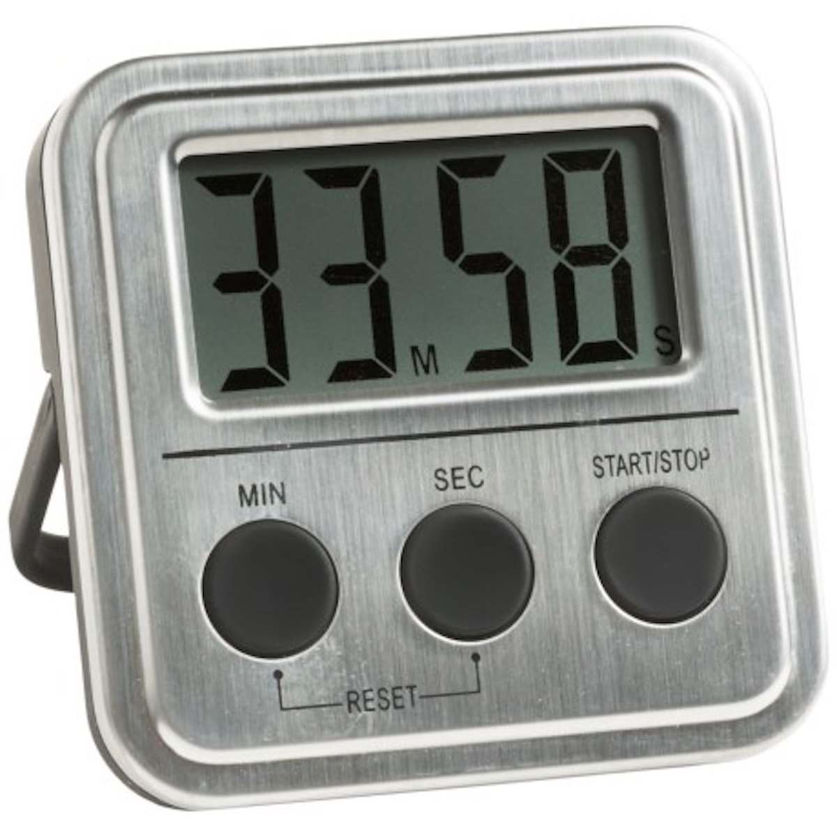 Lunarland Oggi STAINLESS STEEL DIGITAL COOKING TIMER EXTRA LARGE DIGITS - MAGNETIC & STAND by Lunarland Home Kitchen   B01DVR0UA8
