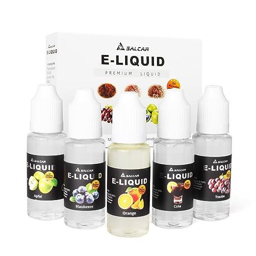 71 opinioni per Salcar liquido, una confezione (5 flaconi da 20 ml) per sigarette