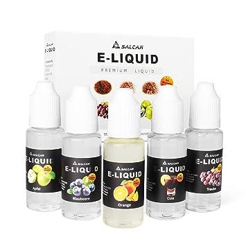 Salcar® 5x20ml Set E-Líquido para cigarrillos electrónicos, e ...