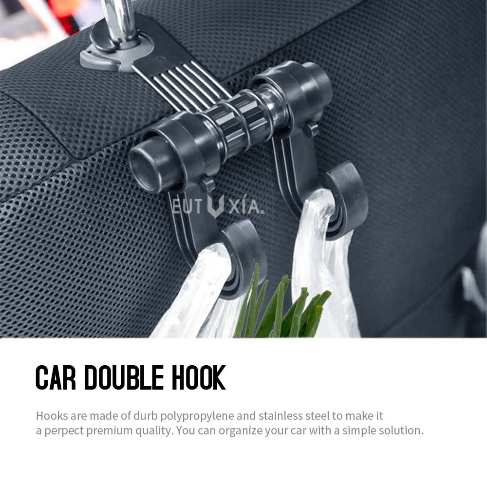 Etc Clothes Heavy Duty Holder for Shopping Bags RED SHIELD Car Back Seat Headrest Hanger Hook Groceries Backpacks Universal Fit for All Vehicles Convenient Organizer Holds Up to 15 lbs. Purses