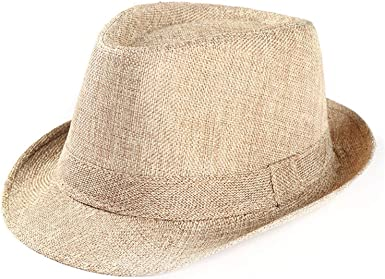 Fedora Hats Woman Men Beach Sun Straw Hat Unisex Trilby Gangster Cap