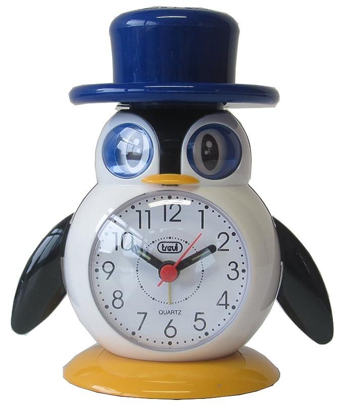 Trevi 3045 - Oiseaux LALLO & LILLA - Réveil à quartz pour enfants - LALLO Bleu-Noir