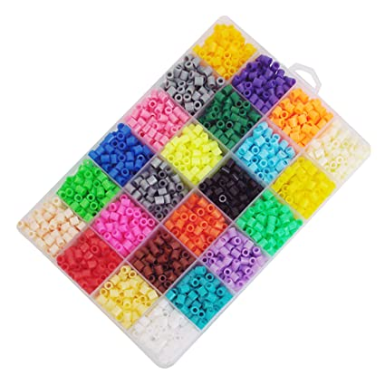 Amazon.com: Gosear 2400pcs 24 colores Mini fusible perlas ...