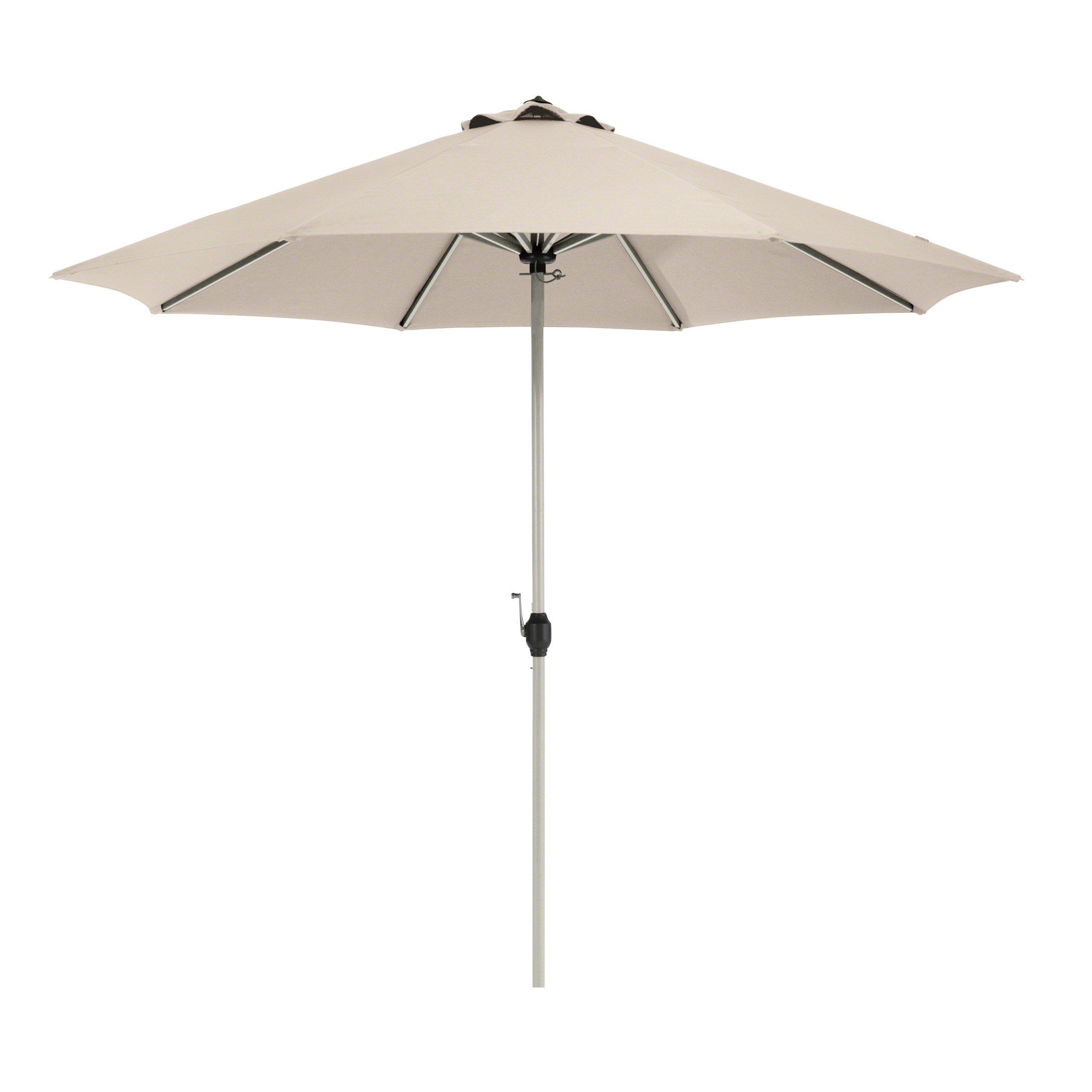 Classic Accessories Montlake FadeSafe 9-Foot Round Aluminum Patio Umbrella, Antique Beige