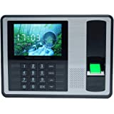 Biometric Fingerprint Password Attendance Machine Employee Checking-in Recorder 4 inch TFT LCD Screen DC 5V Time Attendance Clock