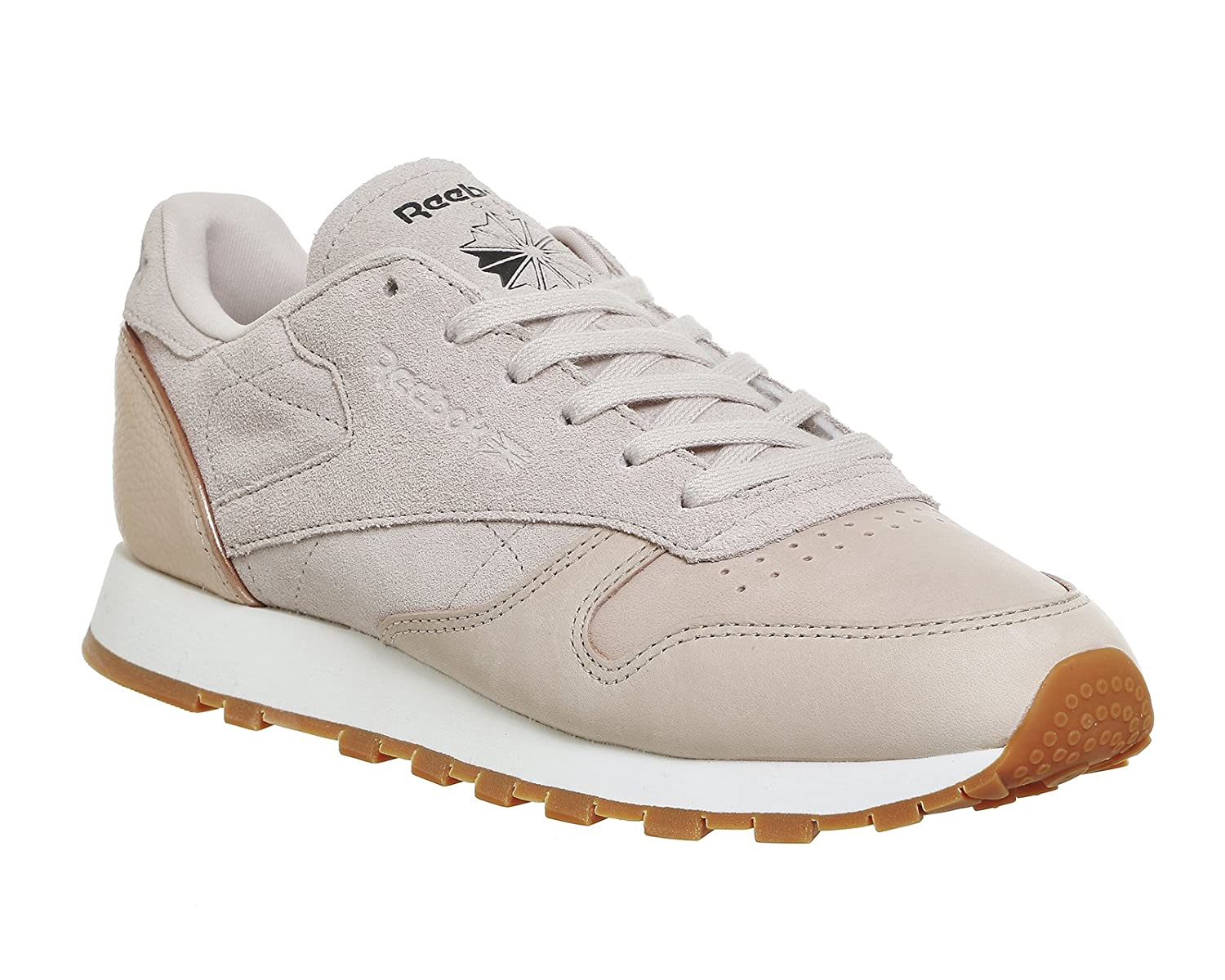 Amazon.com  Reebok Classic Leather Golden Neutral Womens Sneakers Nude   Clothing 10bf739c0